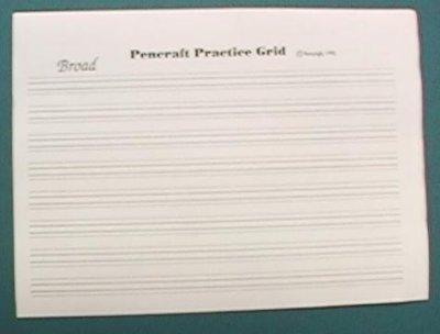 Calligraphy Practice Grid Practice Grid Broad